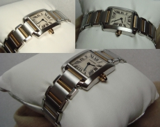 Cartier Tank Francaise steel&gold